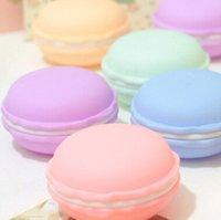 Bon Marché Bijoux mignons-Journée cadeau de 500pcs Cheap Two taille douce d'anniversaire Mignon Bijoux bonbons Macaron Case boîte de rangement maquillage mini récipient cosmétique Valentine par DHL