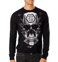 Wholesale 2016 New sweater male skull digital printing M T fashion sweater