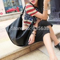 Wholesale Women Girls Bag Shoulder Bag Tote Faux Leather Messenger Hobo Black Bag