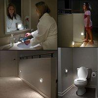 Wholesale New W Motion Activated Cordless sensor light Led infrared sensor lamp small night light wall lamp bed lighting Free Ship