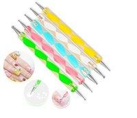 Wholesale 5x ways Steel Dotting Marbleizing Pen Nail Art Decoration Manicure Tool Dropshipping