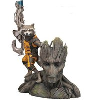 Cheap 20pcs lot 14CM Guardians of the Galaxy Groot & Rocket Raccoon Boxed PVC Action Figure Collectible Model Toy