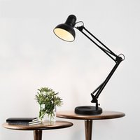 metal table base - Iron top grade arm bendable E27 table lamp base or clips style decorative lighting desk lamp for study room office