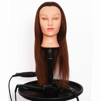 Wholesale Cheap Female Mannequin Head With Human Hair Dummy Barber Hairdressing Dolls Head Hair Practice Head Cosmetology Doll Head Hair Training Head