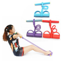 Wholesale Pedal Tubing Dynamic Pedal Bodybuilding Expander Latex Tube Foot Elastic Pull Rope Yoga Fitness
