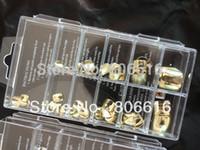 acrylic toe nails designs - Promotion Sets Gold Color Design Metallic Acrylic False Toe Tips for Nail Art Design