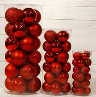 Wholesale Christmas Tree Decoration Christmas Ball Bright Balls Ornament Chrome Trees Decorations Party Supplies Ornaments Multicolor