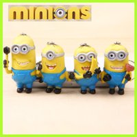 Finished Goods big bananas - Despicable Me bananas Keychain movie D eye doll minions JORGE STEWART DAVE Figure Toys keyring yellow cm Christmas Gift