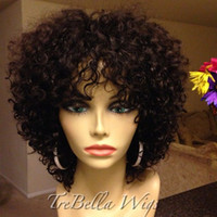 indian remy curly full lace wigs - Unprocessed Virgin Brazilian Curly Full Lace Wig Glueless Full Lace Human Hair Wigs with Baby Hair Bleach Knots for Black Women