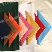 Wholesale Wedding supplies decoration flat stripe visa table napkin banquet full mouth cloth tablecloth