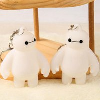 big gifts couplings - New Lovers Cartoon Anime Big Hero Baymax key ring Couple Romantic Christmas Gift Creative keychains Bag Phone Pendant valentines gifts