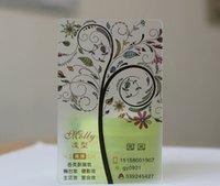 al por mayor acabado mate-Acabado mate personalizado Transparente Transparente Impresión de tarjetas de visita de plástico