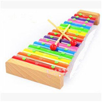 Wholesale 2015 Hot Sale Note Wooden Aluminum Xylophone Hand Knocking Piano Baby Kids Children Musical Instrument Educational Toys LJJC1211
