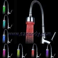Wholesale Temperature sensor Faucet Sink Tap Glow LED RGB Faucet Lights Waterfull Shower Lamp RGB Color Water Glow Tap LED Faucet Lamps