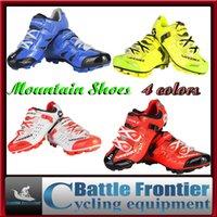 Revisiones Mtb cycling shoes-Zapatos 4color bicicleta de montaña Sidebike ciclo de la bicicleta MTB zapatos de los hombres respirables conducción deportiva zapatos atléticos de la zapatilla de deporte US7.5-13