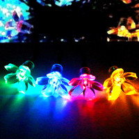 Wholesale Dropshipping Solar Fairy String Lights meters LED Multi color Blossom Decorative Gardens Christmas Trees Weddings Parties Outdoor
