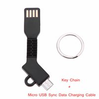 Wholesale Micro USB Cable for Samsung HTC Android Smartphone Tablet PC in Design Sync Data Charging Cable with Key Chain