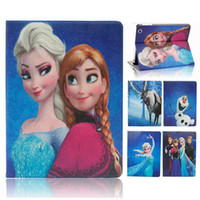 apple ipad kickstands - For iPad air mini Frozen Elsa Anna Princess Flip Cartoon Leather Case Cover with Kickstand Stand Folding