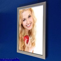 Wholesale LED light box single side A4 signage snap frame turn over clip display advertising