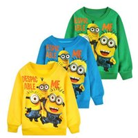 active children gifts - Cartoon Despicable Me Minions Sweaters Long Sleeves Pullover Kids Autumn Winter Children Boys Girls Clothes Christmas Gift For yr