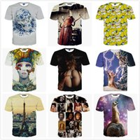 Wholesale new men women tshirt d lightning cat Bob Marley Simpson print sexy lady fashion yeezus shirt camiseta masculina vetement homme