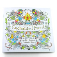Wholesale Lost Ocean Secret Garden An Inky Treasure Hunt and Coloring Book For Children Adult Relieve Stress Kill Time Graffiti Painting Drawing Book