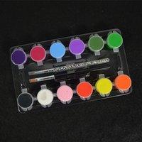 acrylic paint varnish - 12Colors Nail Art Painting Drawing Sets Nail Polish Stamping Varnish Kits Acrylic Nail Brushes Pen for False Tips UV Gel NA045