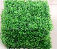Wholesale 10pcs25 cm Square Bushy Artificial Plastic Green Grass Lawn For Wedding Home Office Decoration