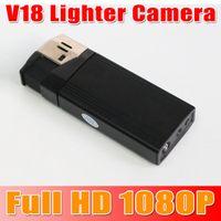 Wholesale Full HD P Mini DV Lighter V18 Lighter Camera Video Recorder DVR Camcorder with highlighted flashlight Support USB2 one sample