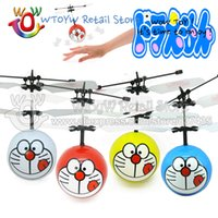 Gros-4pcs / lot Livraison gratuite Télécommande d'anime volant doraemon jouets électroniques de plein air Brinquedos sportives amusantes flottantes