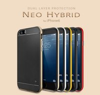 Wholesale Hot Neo Hybrid Case for iPhone quot iphone6 plus Spigen SGP Tough Armor Layered Rounded Edge Slim Armor Case for Apple iPhone6
