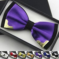 Wholesale Hot Sales Double Layer Business Dress Bow Ties For Men Formal Groom Groomsmen Party Bowknot Cravat Metal Bowtie YE0012 Kevinstyle