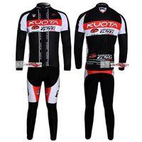 bicycle fabrics - Winter clothes KUOTA Winter long sleeve cycling jerseys jacket bike bicycle thermal fleeced wear set Plush fabric