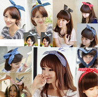 Wholesale Girls Headbands lowest price multi colors option Rabbit ear Hair Bands Girls Hair Clasp Headband For Women DHL freeshipping