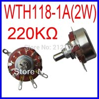 Wholesale WTH118 A W K K ohm Rotary Taper Potentiometer