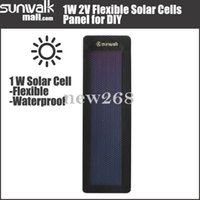 amorphous cell - 5PCS High Quality W V Flexible Solar Cell Amorphous Silicon Foldable Very Slim Solar Panel DIY Charger