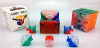 big g toys - 3x3x3 YJ Yulong Transparent Color Stickerless Cube puzzle Moyu x3 mm Educational Toy Special Toys Concept Edition Birthday G