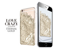 angels phone box - high quality luxury lucky star Angel wings phone case for iphone6 plus protection case love crazy retail box