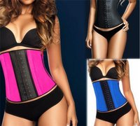 Wholesale fast shipping Women s Waist Training Belt Underust Waist Cincher Rubber corset Latex Bustier Body Shaper S XL Colors