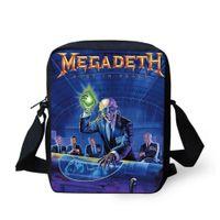 Cheap New Brand Designer Men's Messenger Bags Rock Band Megadeth Shoulder Bag Cool Skull Cross Body Bag Casual Boys Small Handbags