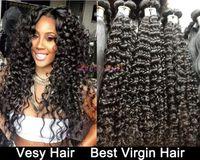 Wholesale TOP A Grade Mongolian Malaysian Brazilian Virgin Hair Weave Weft Full Head Dyeable Unprocessed Brazilian Hair Extensions Deep Wave