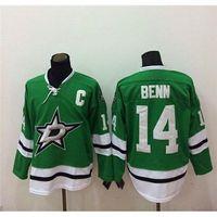 Ice Hockey american apparel jersey - Cheap Hockey Jerseys Green Stars Jamie Benn Hockey Wears New Arrival Top Quality American Hockey Apparel New Style Outdoor Uniforms