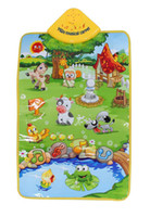 Wholesale 60CM CM Music Sound Animal Farm Play Playing Mat Toy Carpet Playmat Gym Toy Kids Children Baby Touch Sing
