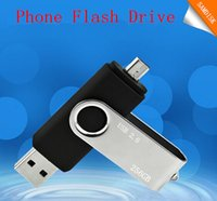 Wholesale 256GB GB GB Smart Phone USB Flash Drive OTG Pen For Smart Phones tablet computer random colour external storage micro usb memory stick