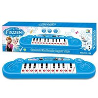 big musical instruments - 10pc Free Shiping Musical Instruments Toy For Kids Frozen Girl Cartoon Electronic Organ Toy Keyboard Electronic Baby Piano
