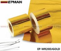 Wholesale EPMAN quot x5 Meter Roll SELF ADHESIVE REFLECT A GOLD HEAT WRAP BARRIER Hot Selling New EP WR20DJGOLD