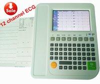 Wholesale 12 leads channel ECG EKG machine Electrocardiograph medical equipment Automatic and ECG heart monitor ecg ekg analysis
