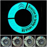 Wholesale New Aluminum Car luminous Ignition Switch Decoration Stickers Key Hole Protector Circle Ring For Citroen C4L Elysee c5 Fashion order lt no t