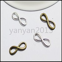 Wholesale 240pcs Vintage infinity Sign Charms Pendants Alloy pandent Beads Fit Diy Beads Necklace