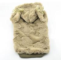 Wholesale dog felt manteau pet winter protection clothes chien hot jacket perros cold proof coat puppy warm clothing shih tzu fuzz apparel